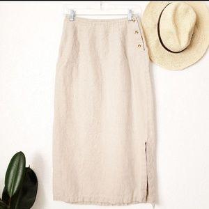 Dresses & Skirts - 2DAY SALE🍃 VINTAGE Linen Wrap Skirt